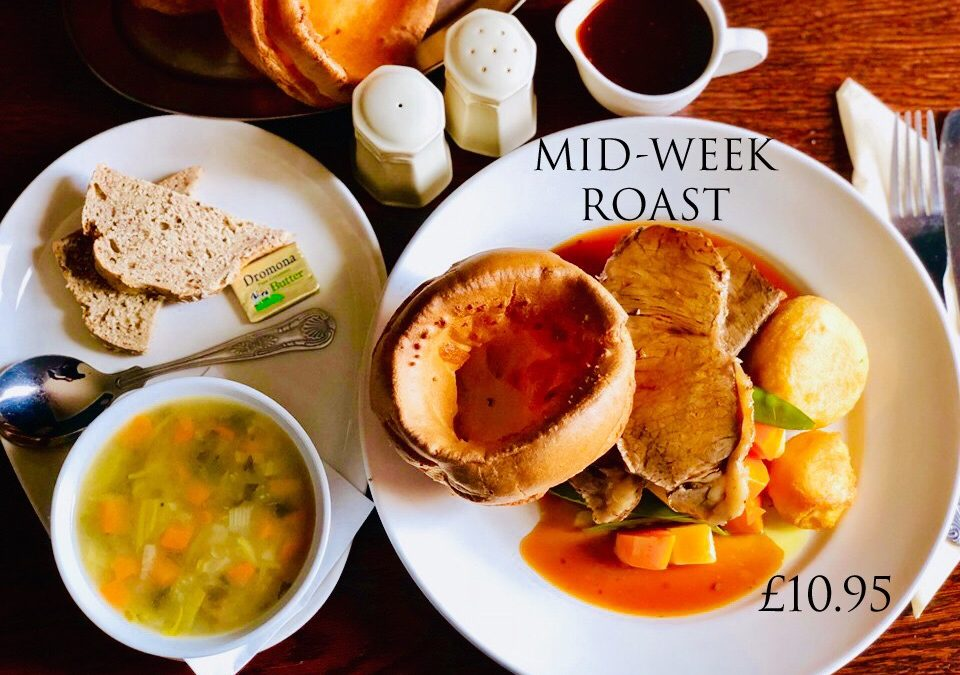 Mid Week Roast Special- Soup & Roast £10.95 (Every Wednesday)
