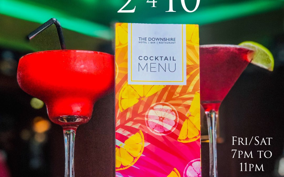 Cocktails 2 for £10